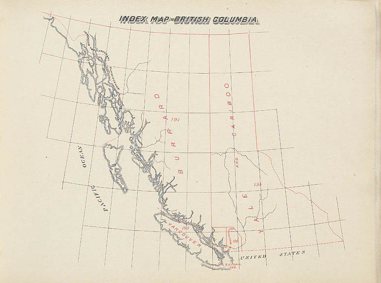 Columbia Canada Map.British Columbia Electoral Atlas Of The Dominion Of Canada 1895