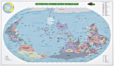 Digital handbook map literacy interactive image of a map entitled upside down world map 1999 gumiabroncs Images