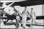 Doctor W.G. Anderson, seated.  Plane is a 1929 S.H. Gispsy Moth, CF-APA. + Copied from PA-2238-2.