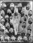 Alberta Senior Hockey League 1939-1940. + Copied from PB-796. + L-R top row:  George Boothman; M. Flett; P. Atkinson; W. McKay. + L-R second row:  P. Davis; E.F. Piper; R. E. Trammell; F. E. McKay; L. Doling. + L-R third row:  P. Ettinger; E. Martinson; R. Roche; R. Klein. + L-R fourth row:  F. Dotten; J. Milford; A. Chakowski; W. Currie. + L-R fifth row:  S. Craddock; W. Sherron; D. Cairns; M. Evers. + L-R bottom row: R. Will; S. F. Heard; Mr. Cameron; unknown; unknown.