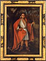 Portrait de Ho Nee Yeath Taw No Row (baptisé John), Roi des Nations Generethgarich, 1710