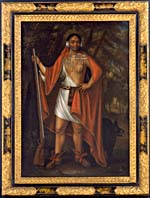 Portrait de Sa Ga Yeath Qua Pieth Tow (baptisé Brant), Roi des Maquas, 1710