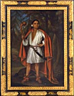 Portrait of Etow Oh Koam (baptized Nicholas), King of the River Nation, 1710