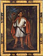 Portrait de Etow Oh Koam (baptisé Nicholas), Roi de la Nation de la Rivière, 1710