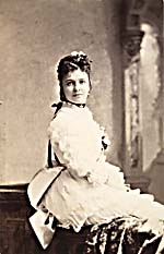 Photograph of Emma Albani at age eighteen. This image was later used as the basis for a Canadian postage stamp